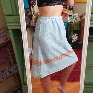 VTG Handmade Adorable Prairie Midi Skirt!